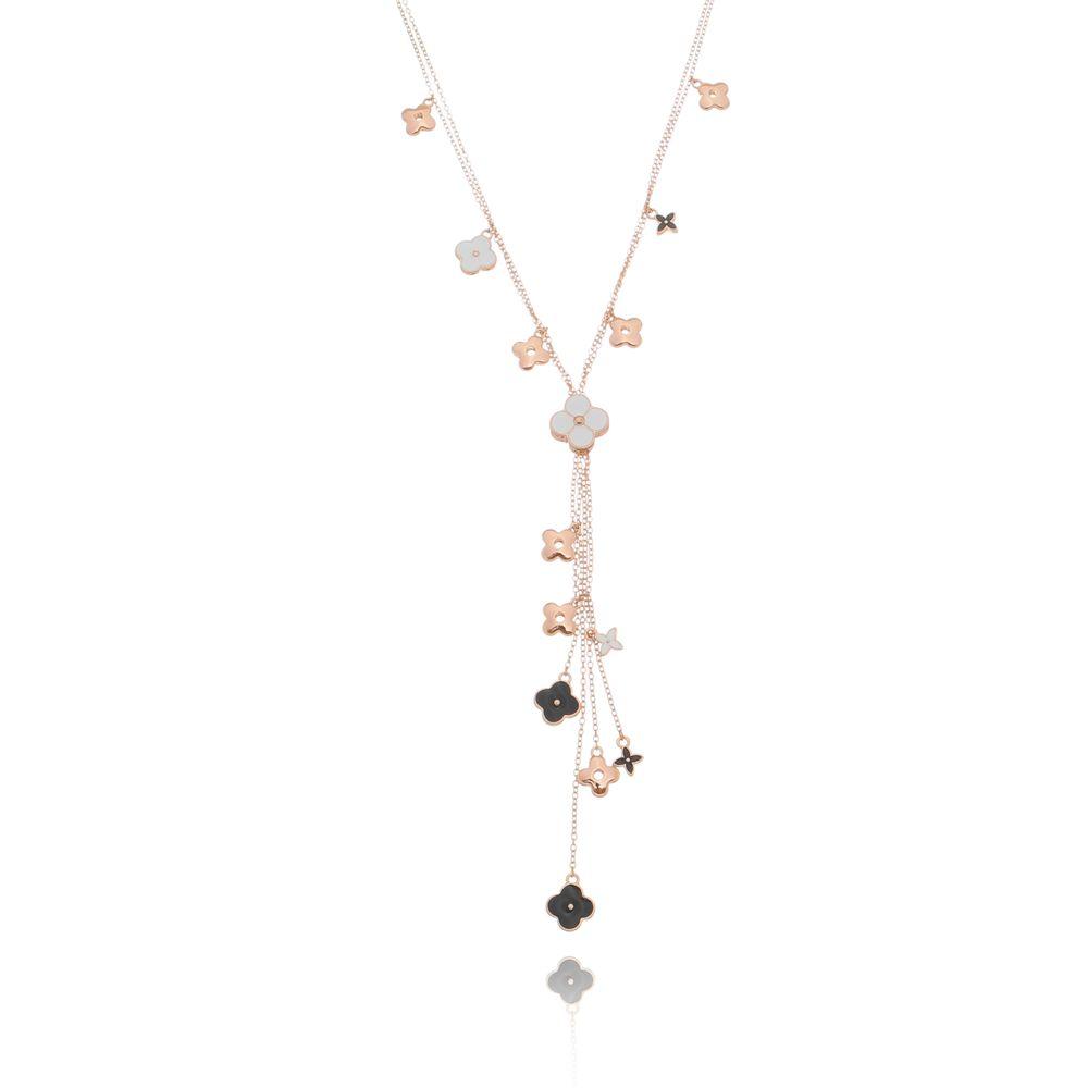 colar-longo-com-pingente-de-flor-esmaltado-banhado-em-ouro-rose-18k