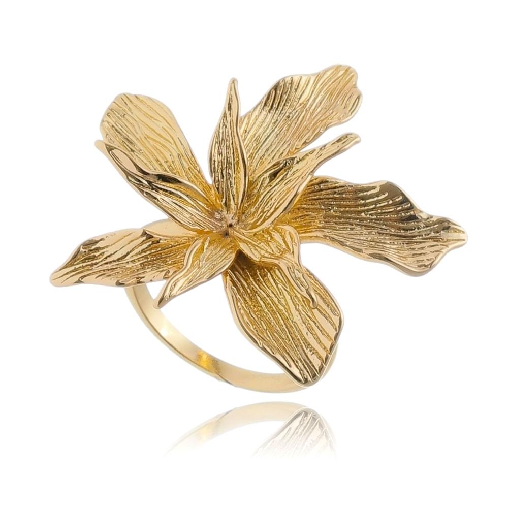 anel-de-flor-texturizada-banhado-em-ouro-18k