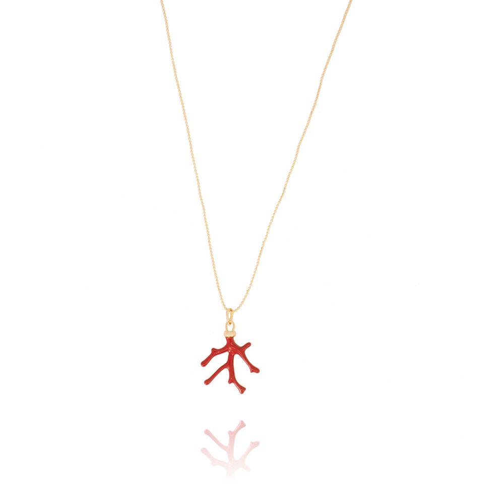 -colar-de-bolinhas-com-pingente-coral-vermelho