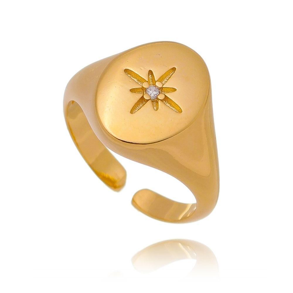 anel-de-dedinho-liso-com-base-oval-e-detalhe-de-estrela-com-ponto-de-luz
