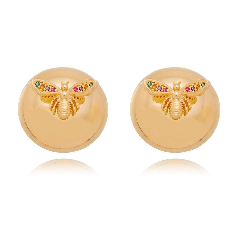 brinco-liso-esfera-com-libelula-e-zirconias-coloridas
